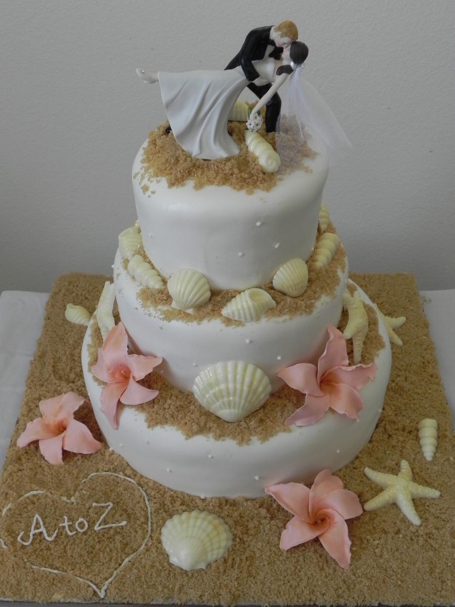 Beach Wedding - CakeCentral.com