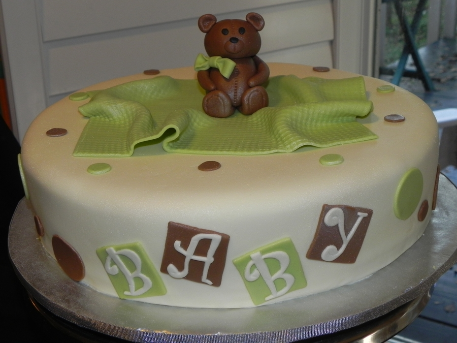 Bear Themed Baby Shower  on Cake Central