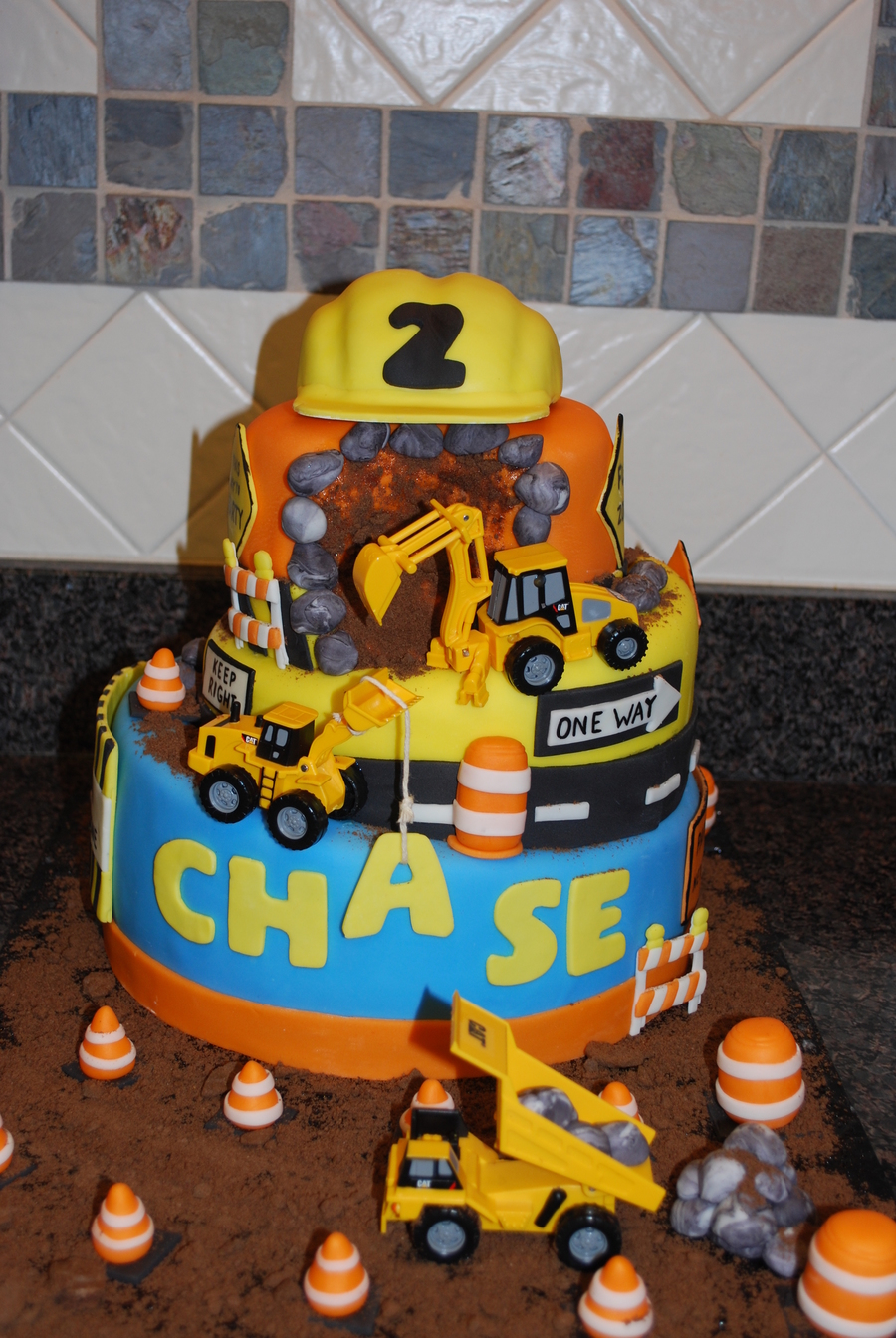 Construction Birthday Cake Hardhat Made From Rkt Covered With ...