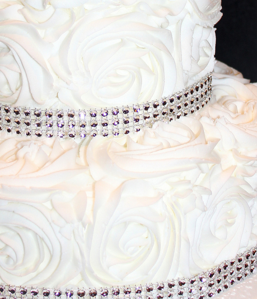 25th Wedding Anniversary Cake Ideas: 25Th Wedding Anniversary Rosette Cake