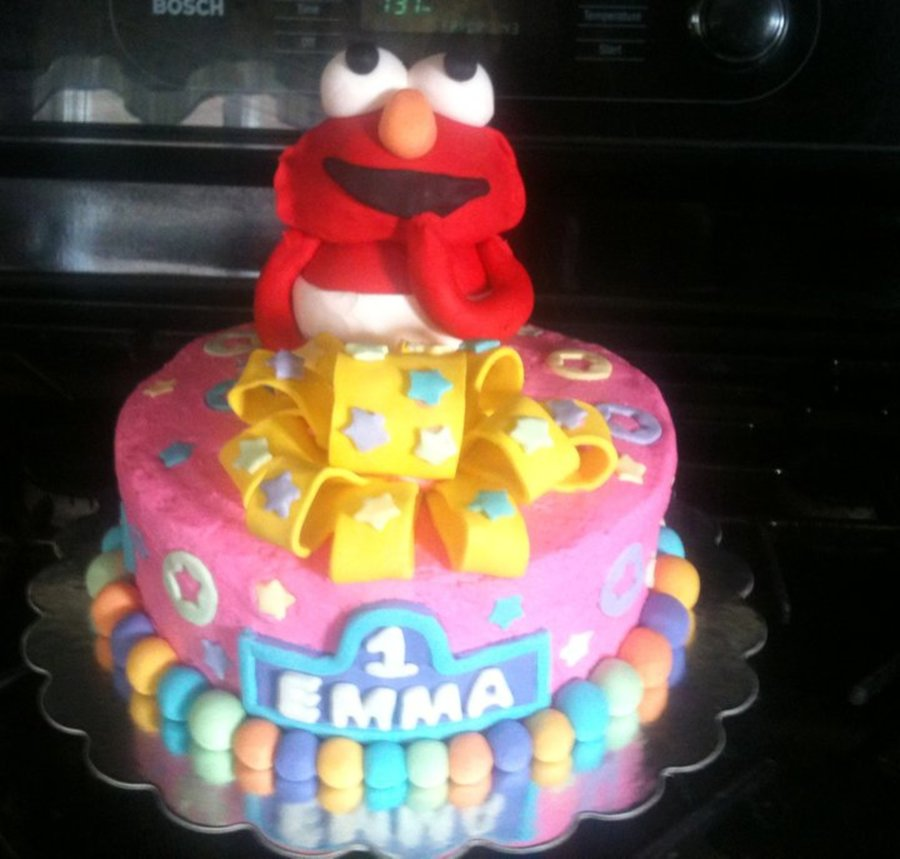 Pink Baby Elmo on Cake Central