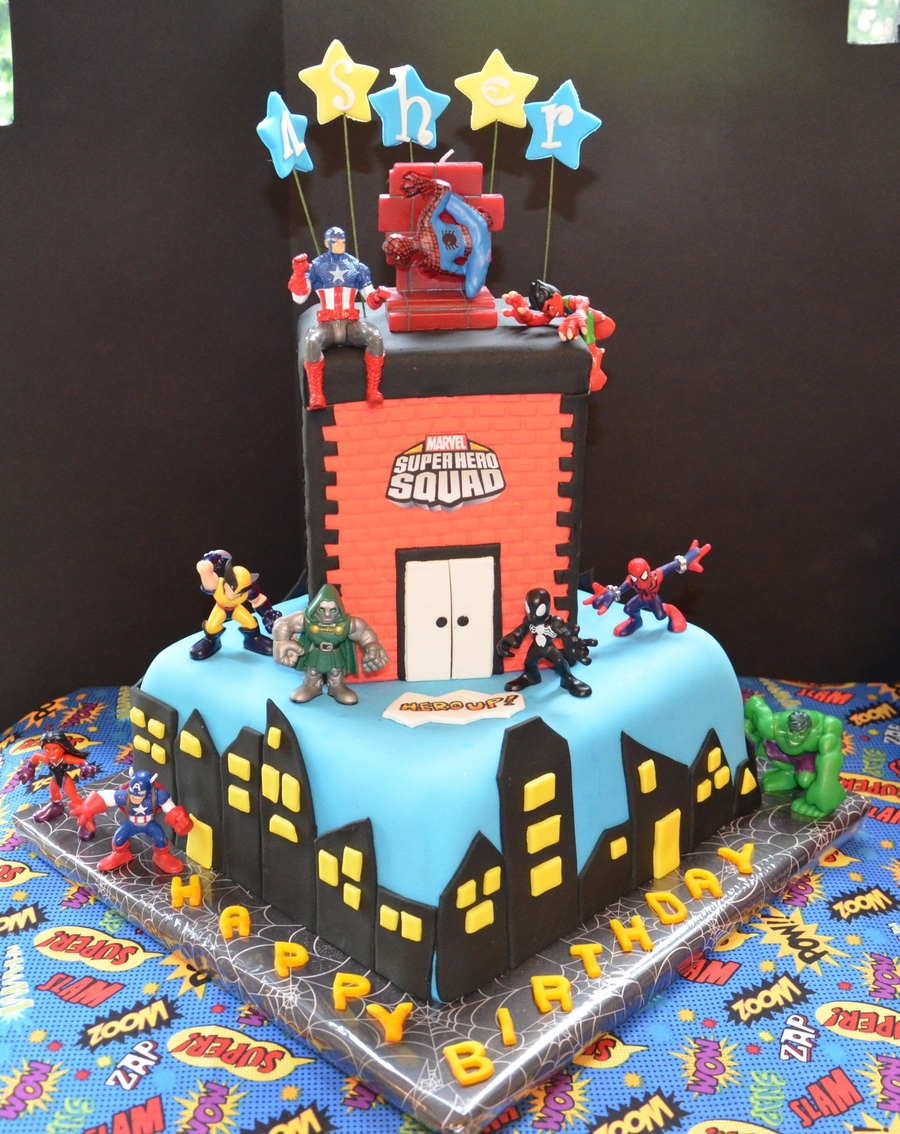 Super Hero Birthday Cake Cakecentral