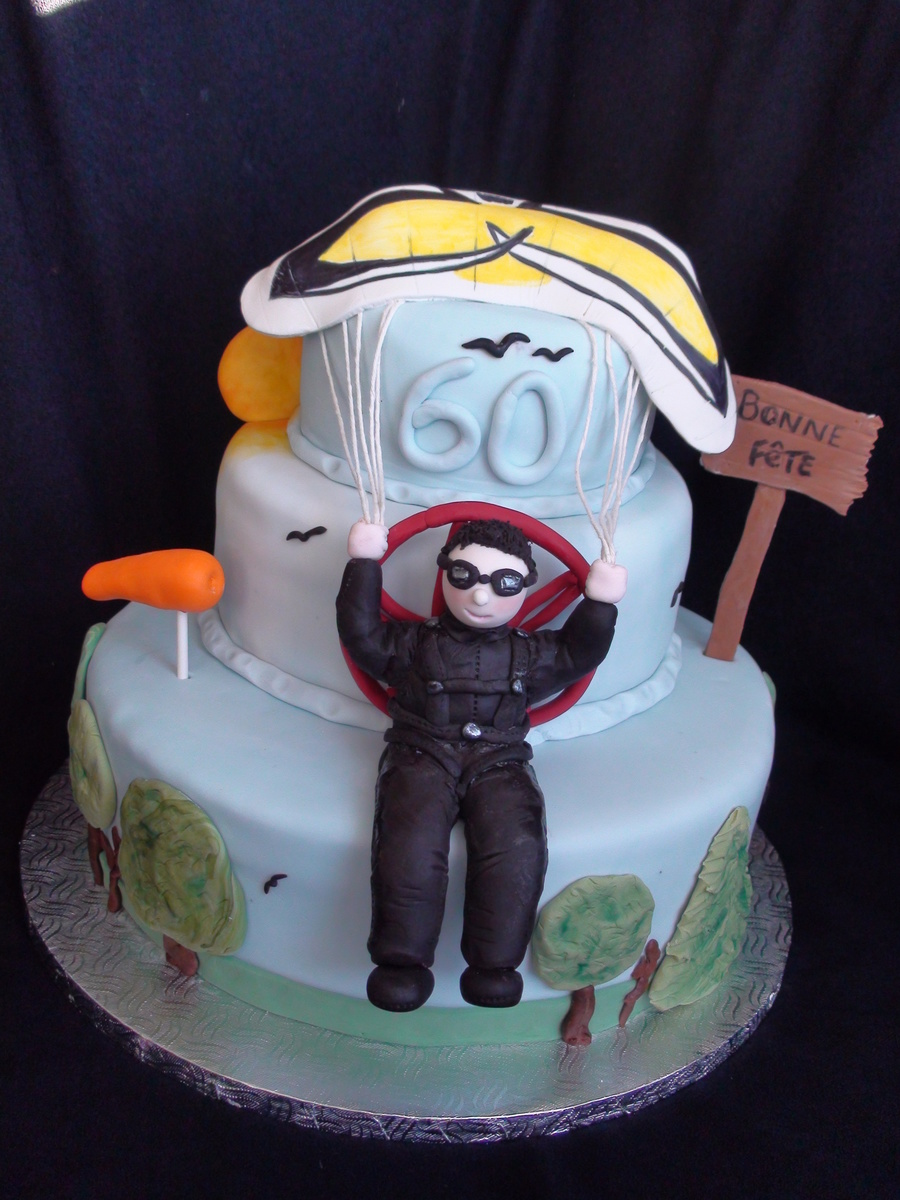 Skydiving Parasailing Cake on Cake Central