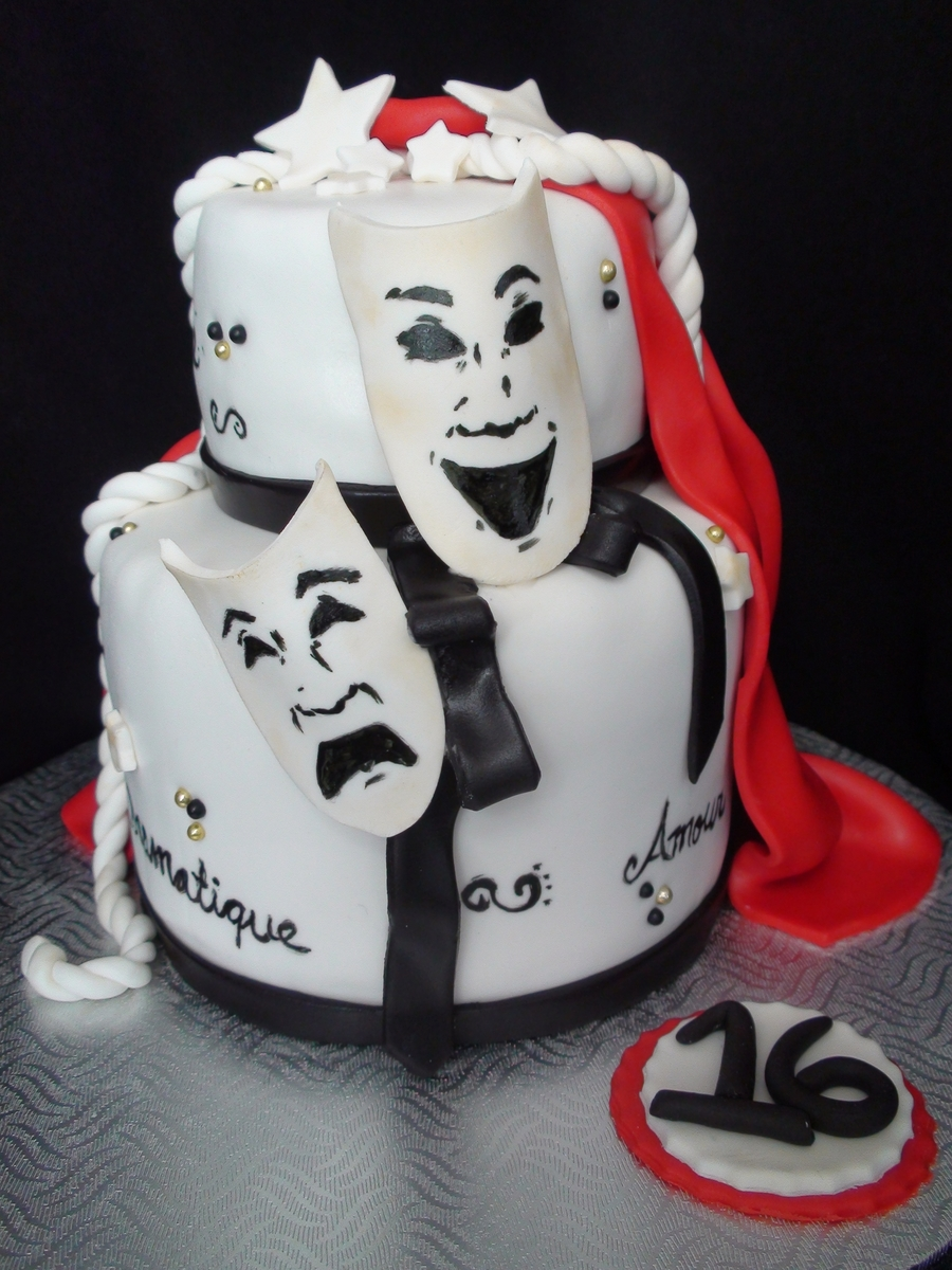 Theatrical Inspired Cake on Cake Central