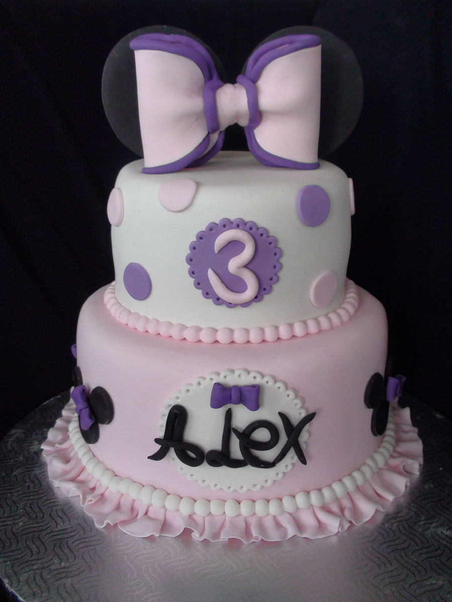 Mini Mouse Cake With Bow on Cake Central