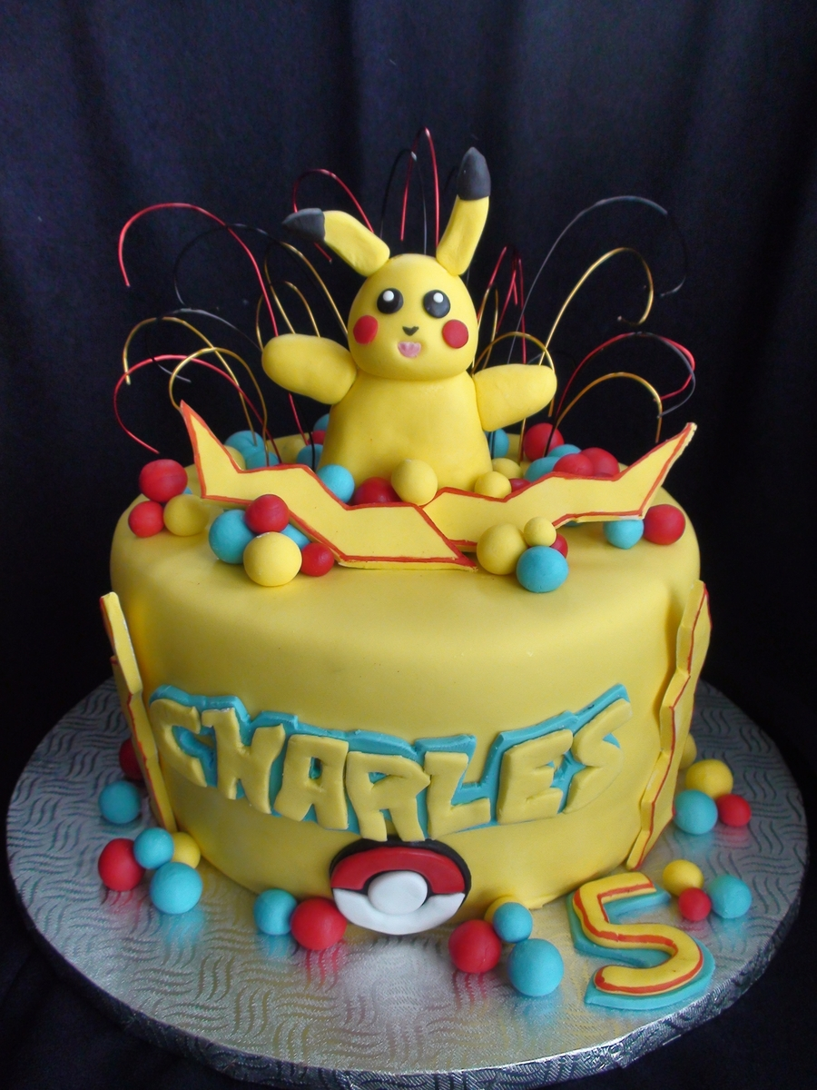 Pikachu Pokemon on Cake Central