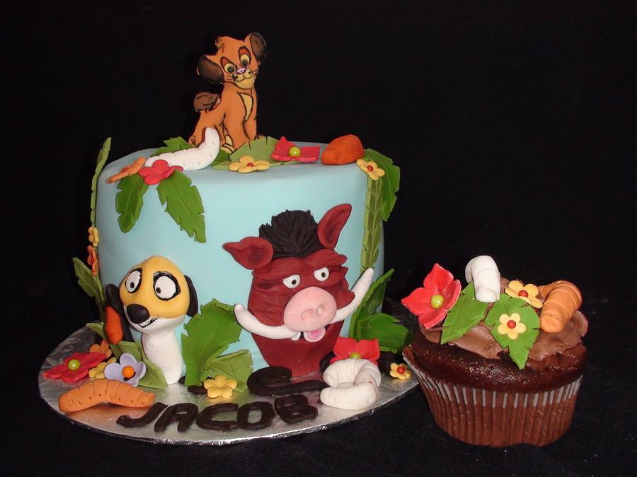 Pumba Cake: Lion King, Pumba & Timon Cake