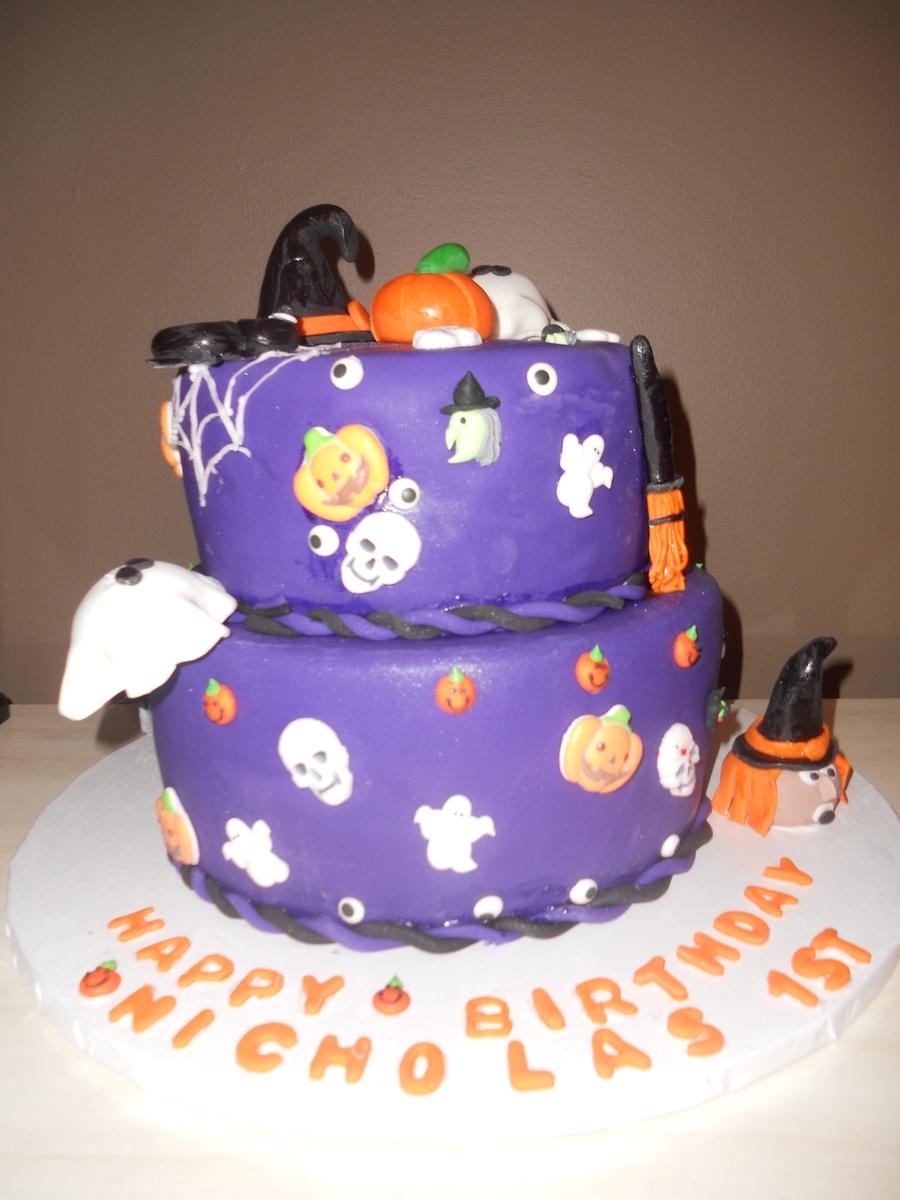 Admirable Halloween Birthday Cake Cakecentral Com Personalised Birthday Cards Veneteletsinfo