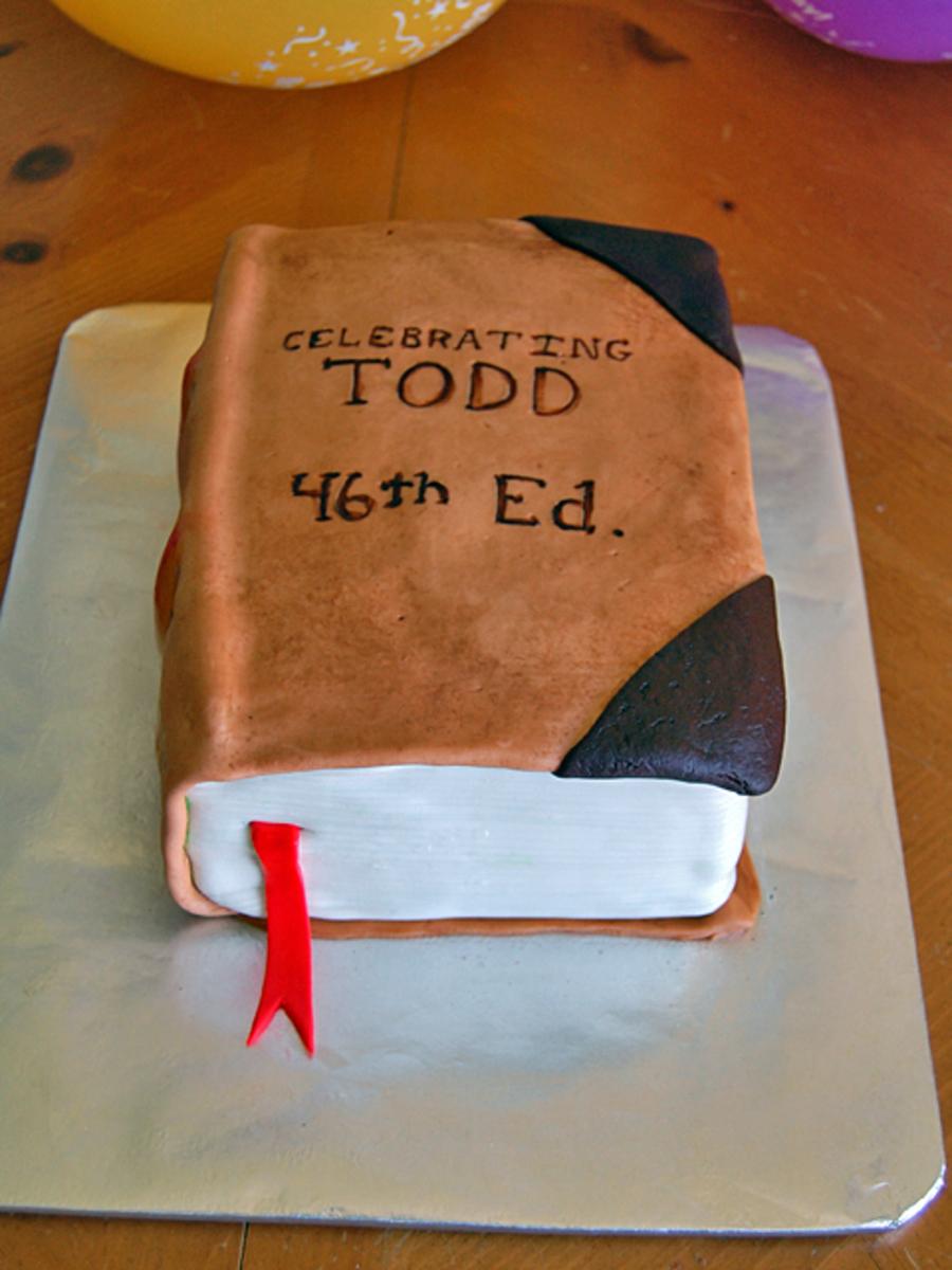 Awesome Birthday Book Cake Cakecentral Com Personalised Birthday Cards Xaembasilily Jamesorg