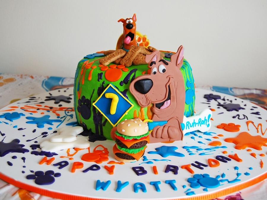 Outstanding Scooby Doo Cake Cakecentral Com Funny Birthday Cards Online Elaedamsfinfo