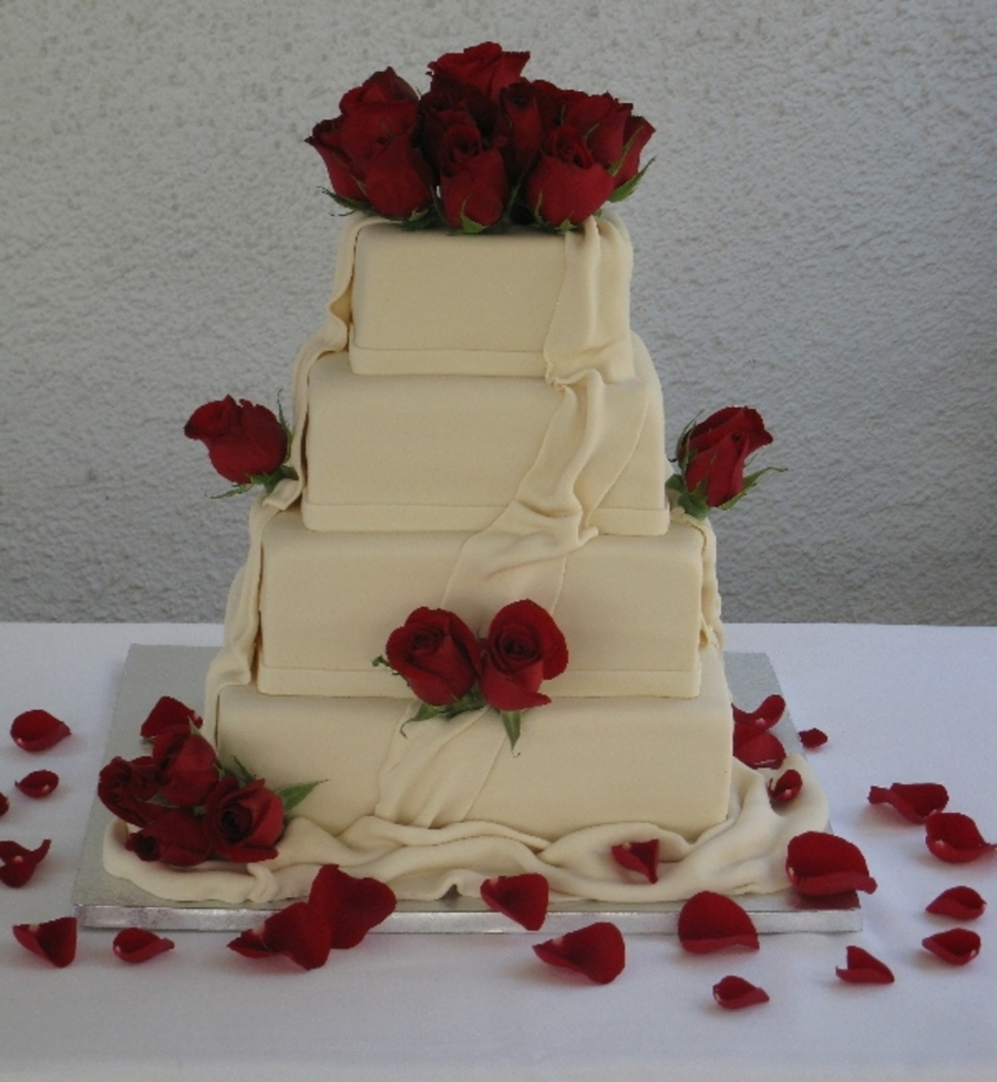First Stacked Wedding Cake on Cake Central