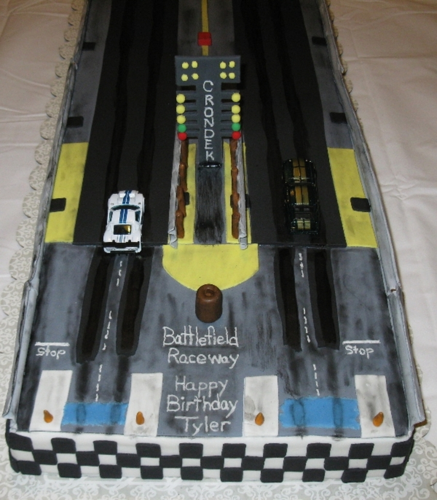 Battlefield Dragstrip Cake on Cake Central