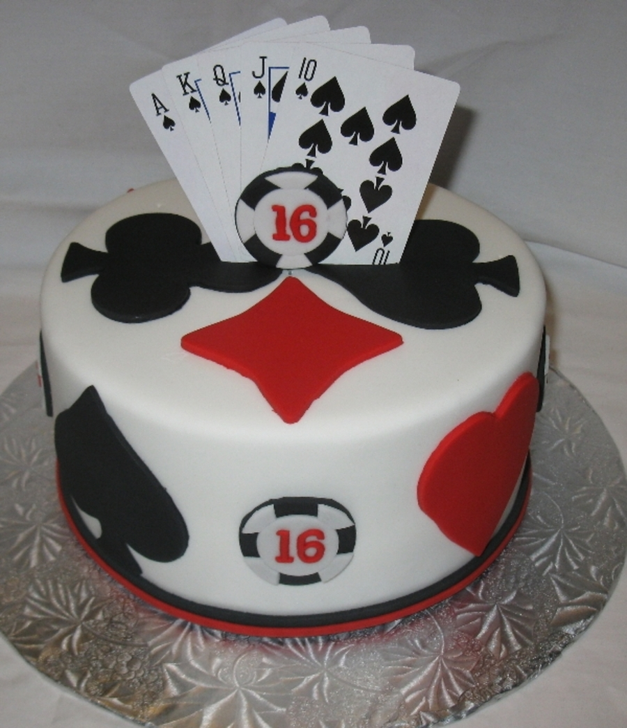 Draw Poker on Cake Central