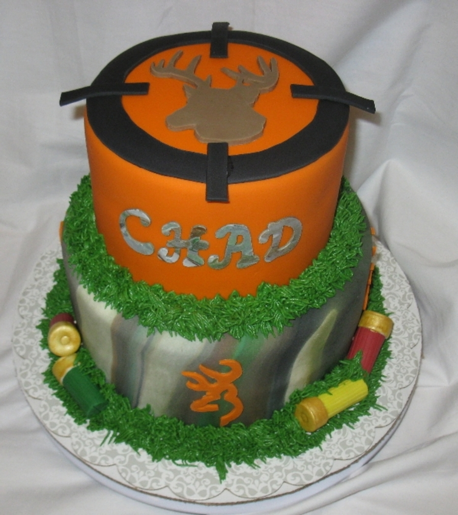 Camo Browning Scope on Cake Central