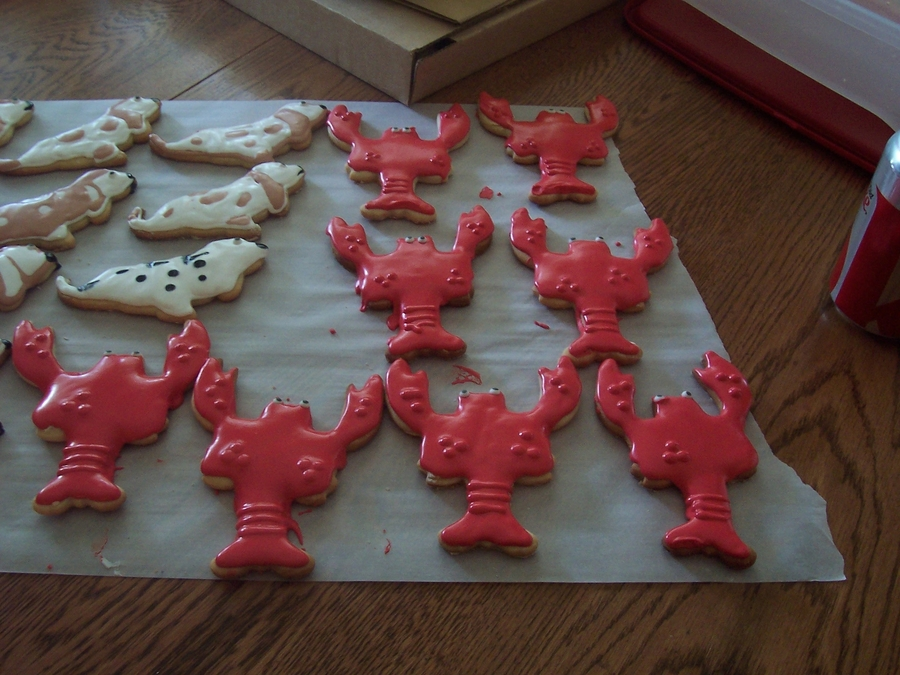 Lobster Cookies on Cake Central