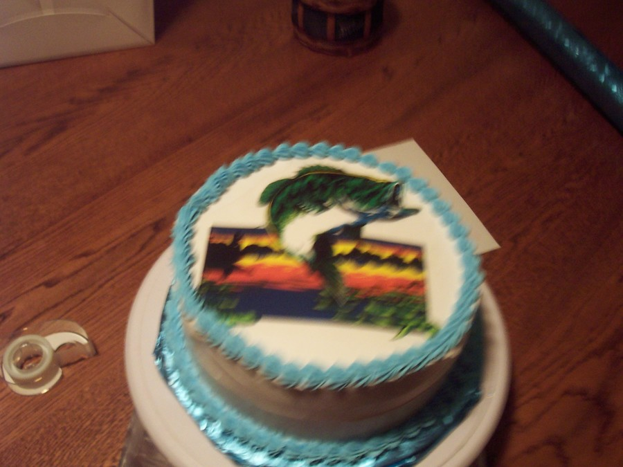 Bass Fishing Cake on Cake Central