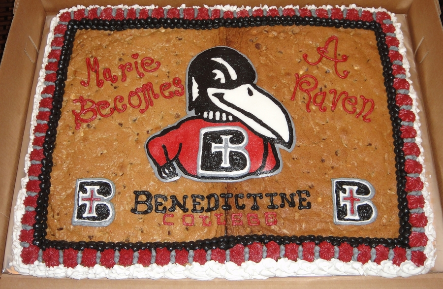 Benedictine College Cookie Cake on Cake Central