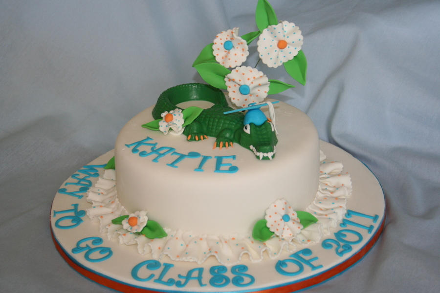Pretty Gator Cake on Cake Central
