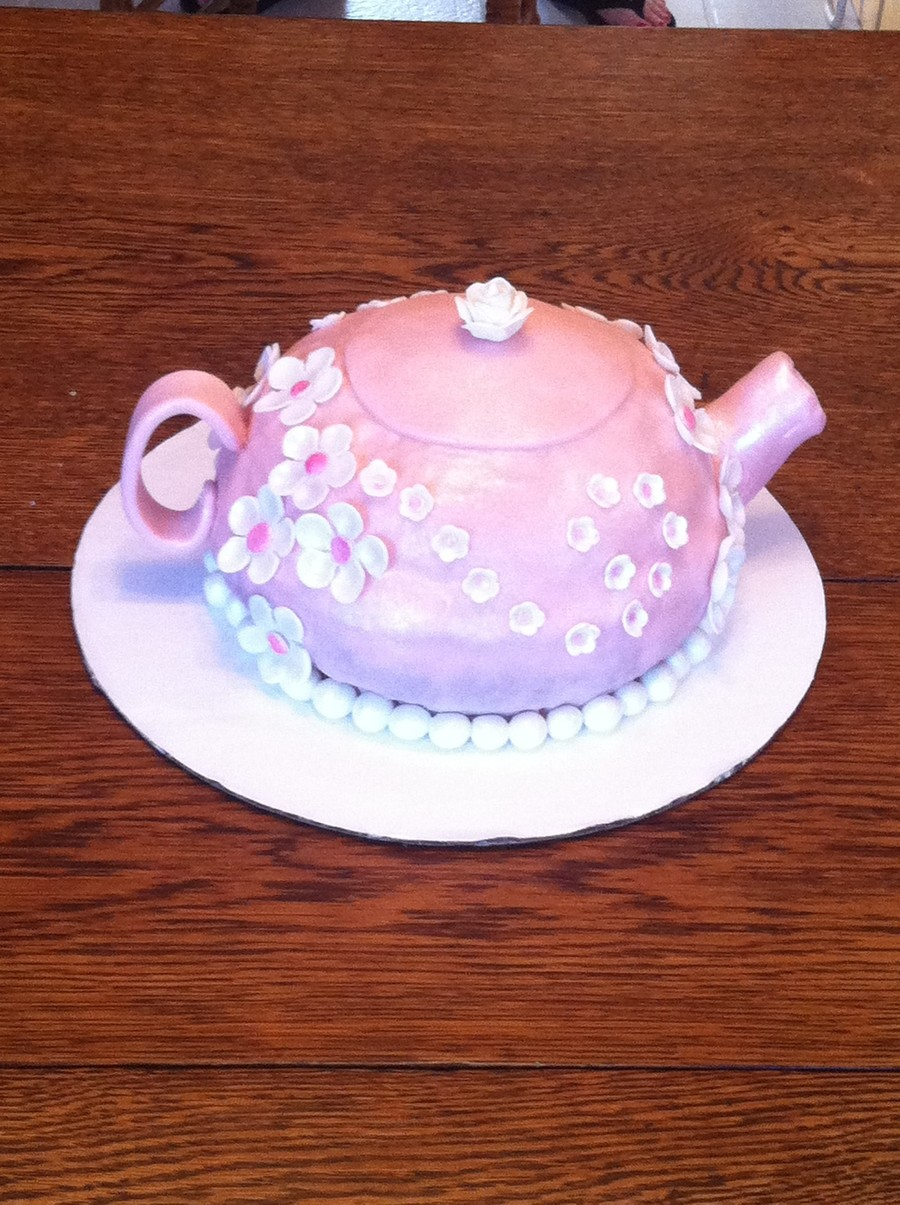 Flower Teapot Cake on Cake Central