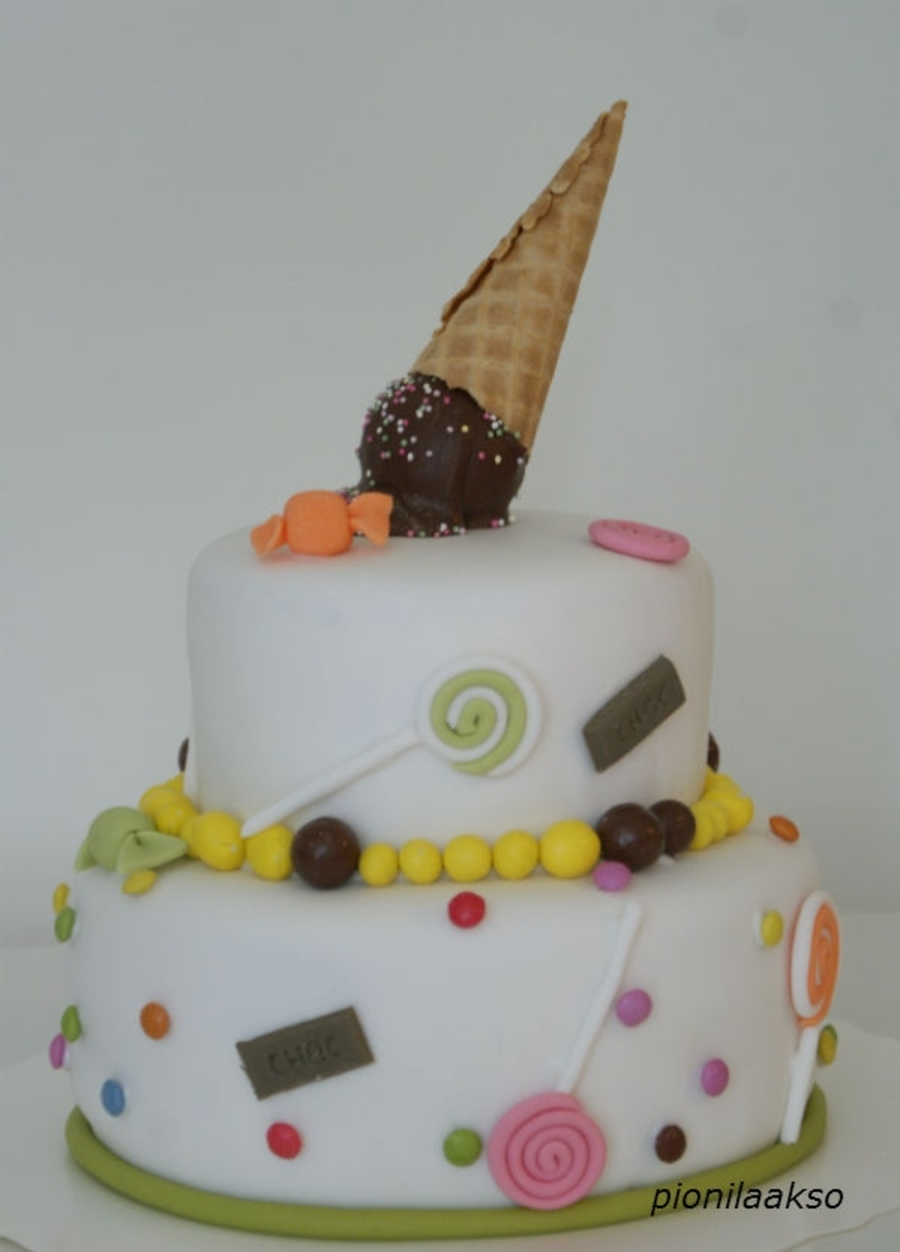 Ice Cream And Candy Cake on Cake Central
