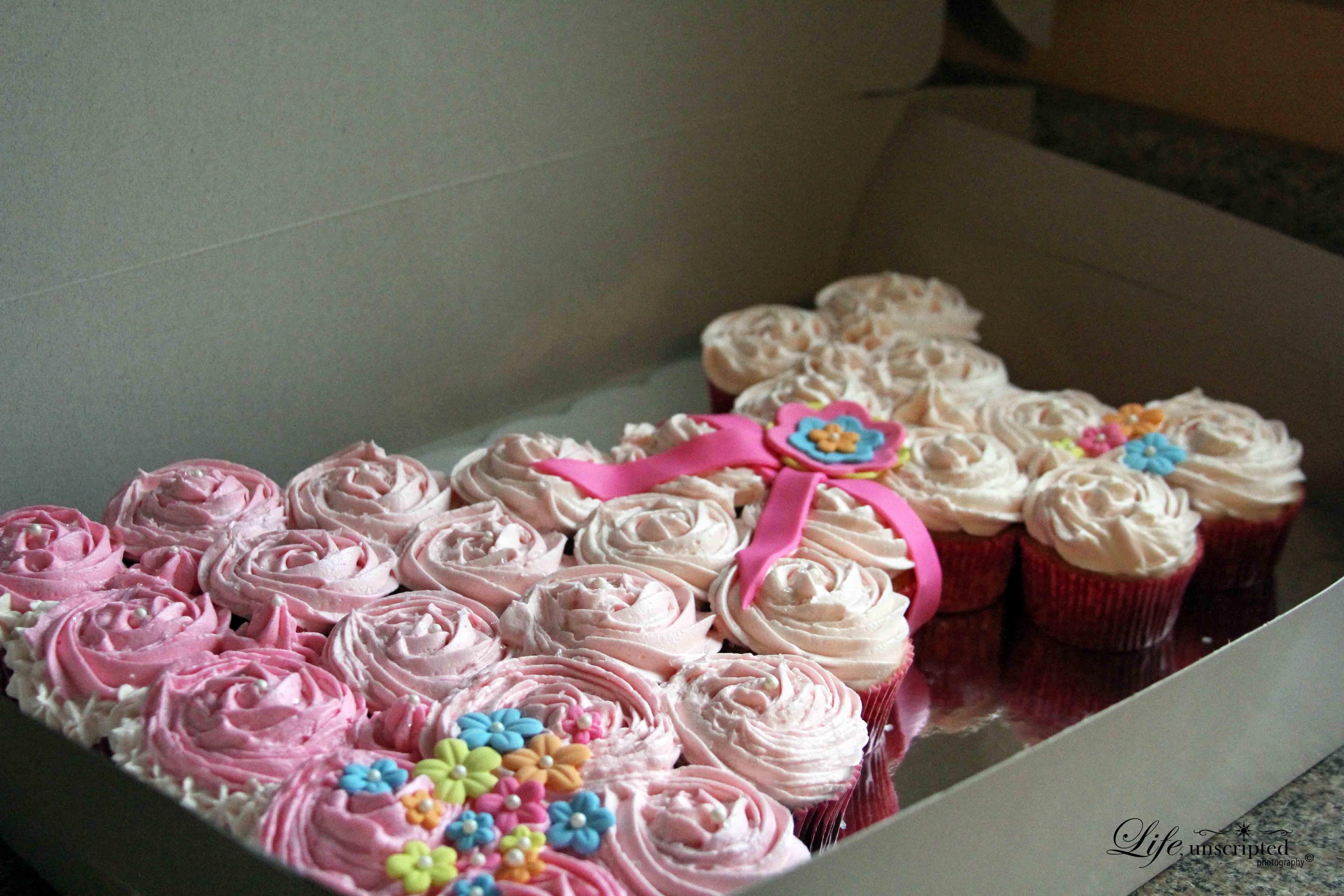 Princess Dress Cupcake Birthday Cake