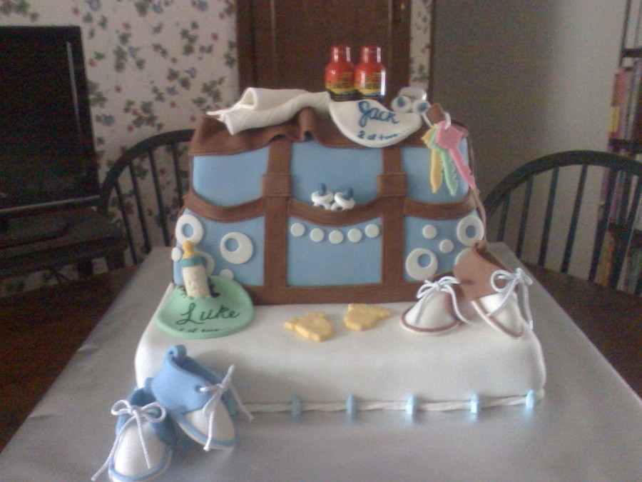 Diaper Bag Cake For Twins on Cake Central