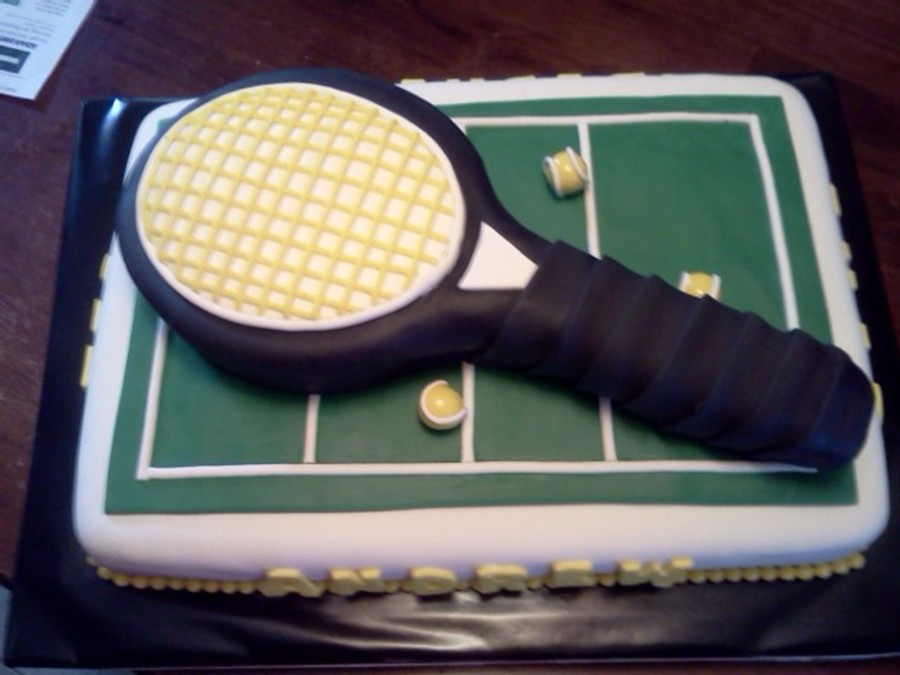 Tennis Graduation Cake on Cake Central