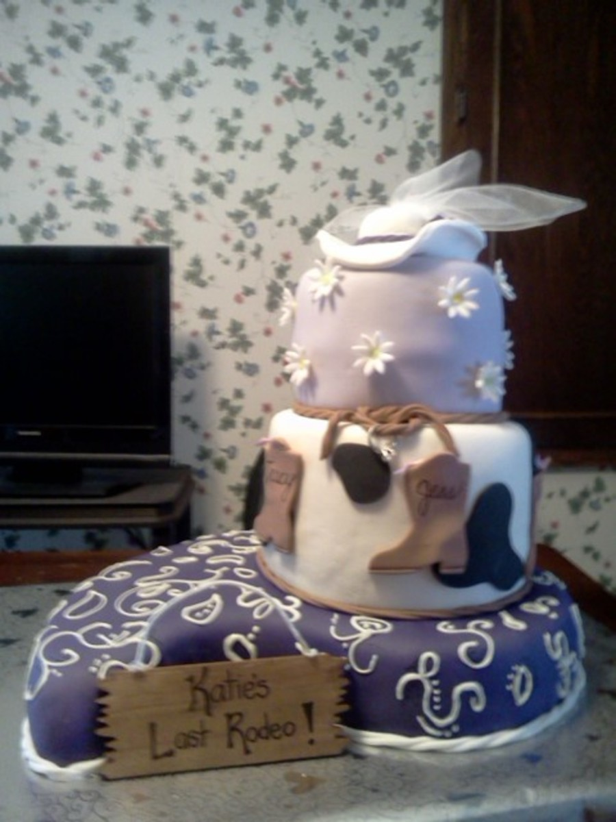 Cowgirl Bridal/bachelorette Cake on Cake Central