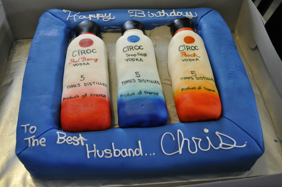 Admirable Ciroc Cake Bottles Are Rct Cakecentral Com Personalised Birthday Cards Veneteletsinfo