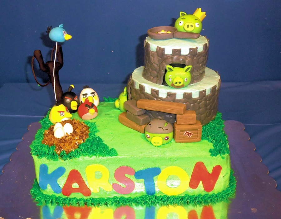 Angry Bird Birthday Cake on Cake Central