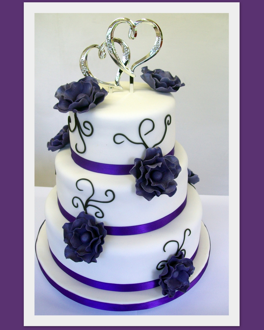 Purple Flowers Cakecentral
