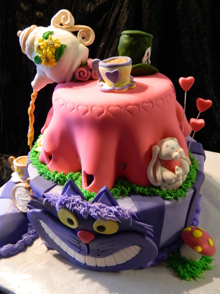 tea party baby shower alice in wonderland