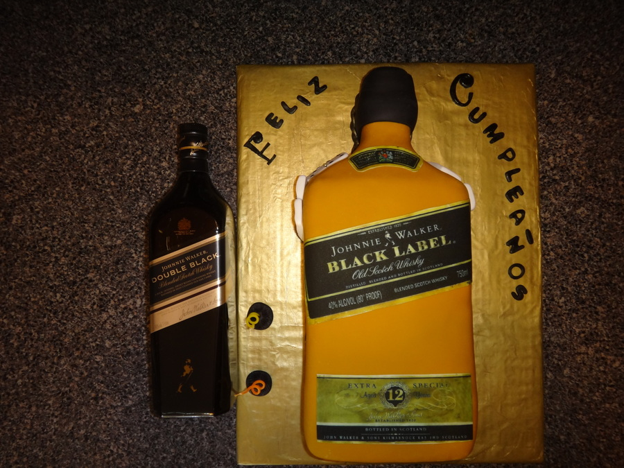 Johnnie Walker Bottle Cake