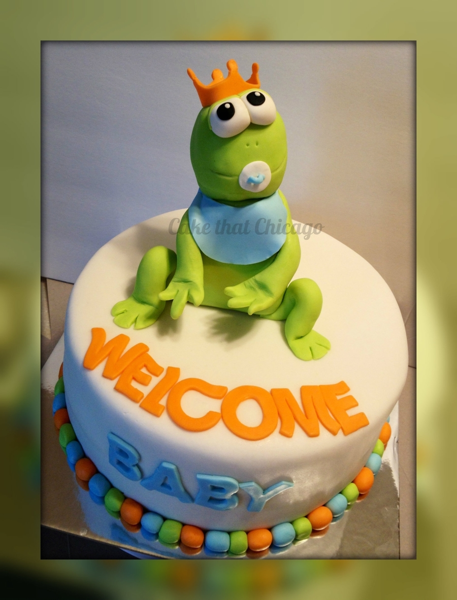 Frog Prince Baby Shower Cake on Cake Central
