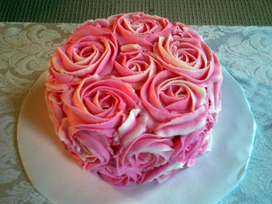 Rose Swirl Cake Design : Rose Swirl Cake - CakeCentral.com