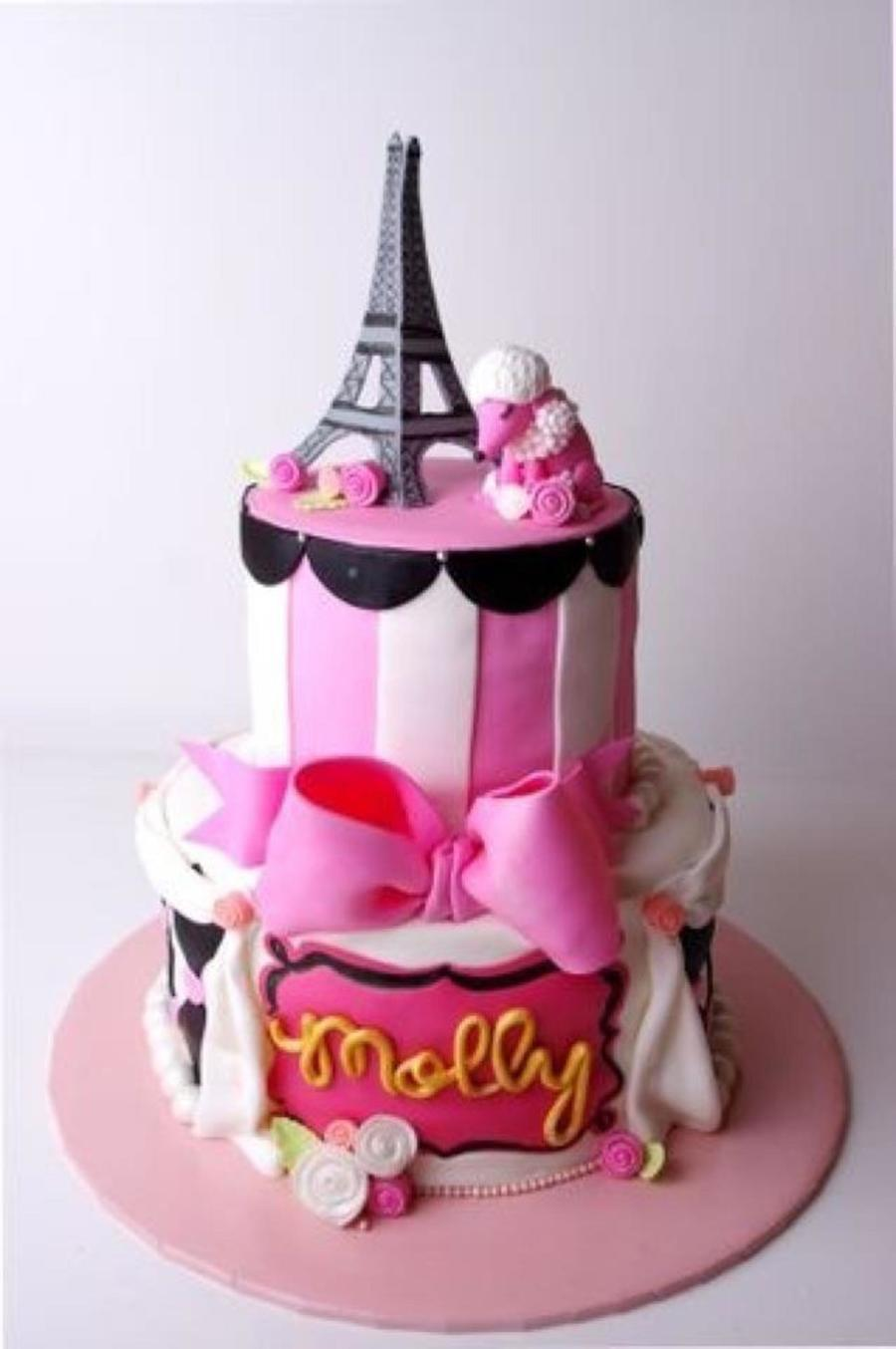 Paris-Themed Birthday Cake on Cake Central
