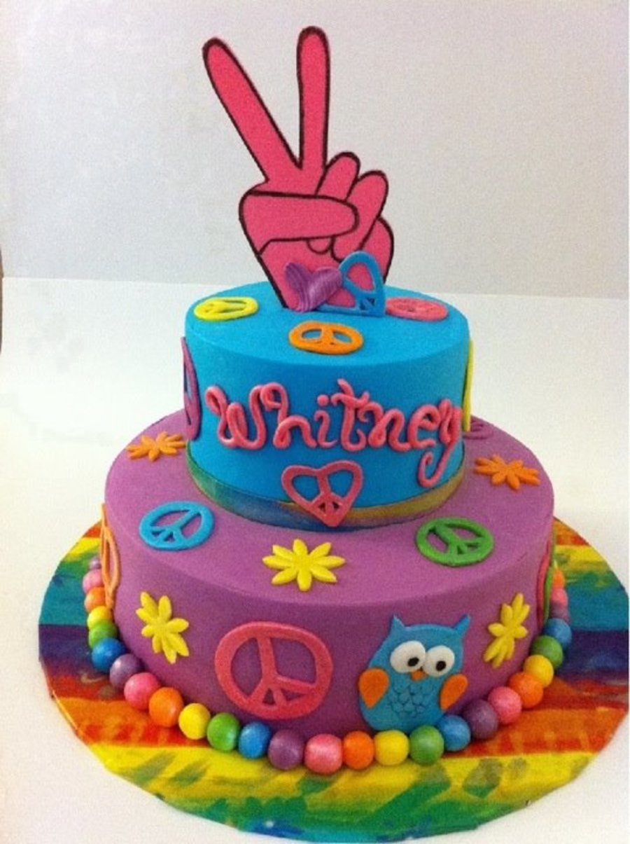 Peace Sign Cake Designs