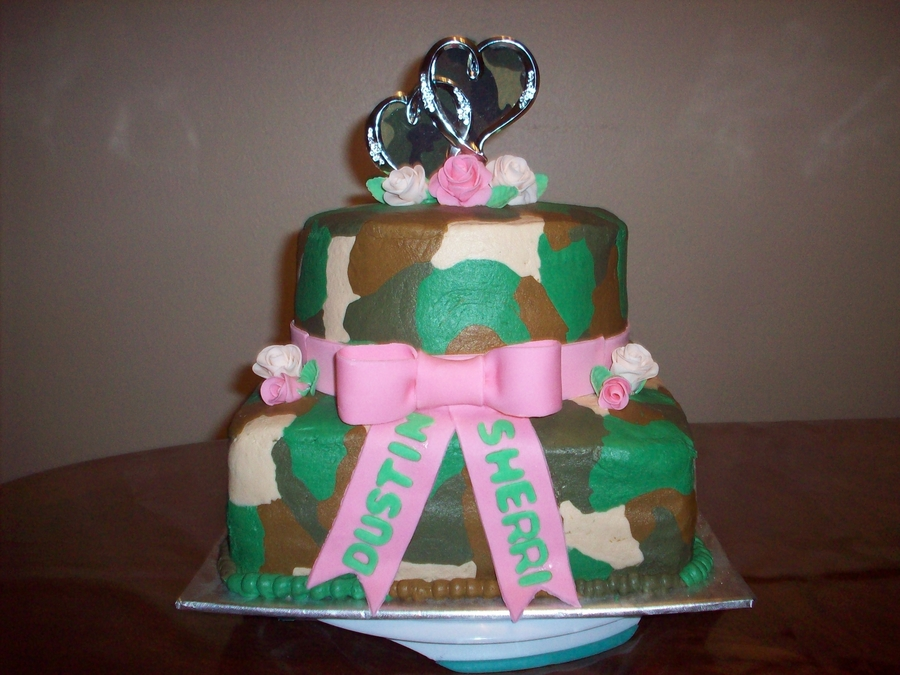 Camo Bridal Shower  on Cake Central
