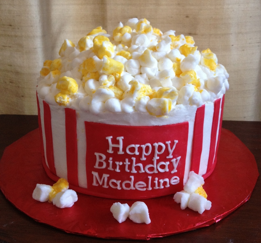 Popcorn Bucket Birthday Cakes