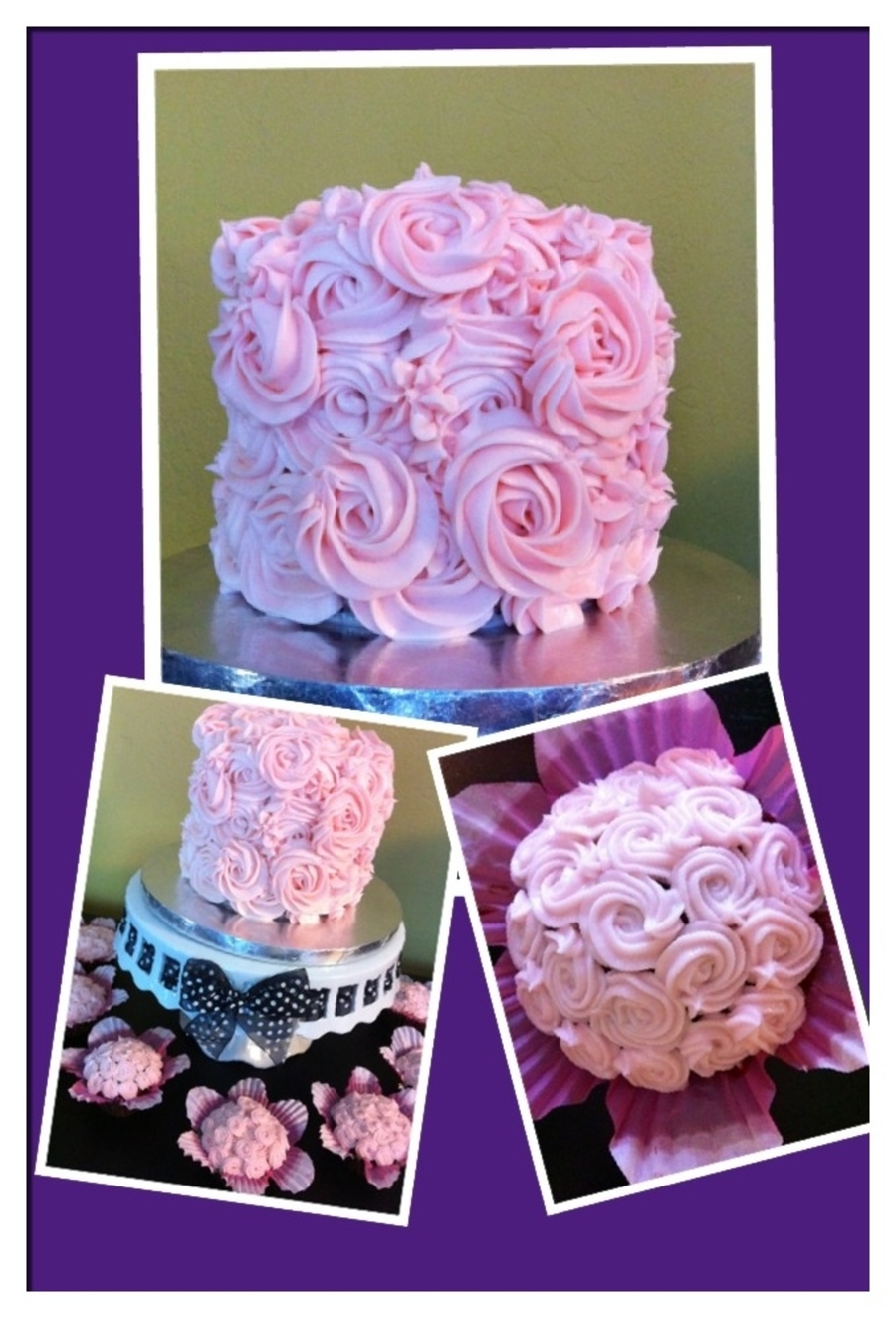 Swirl Of Roses on Cake Central