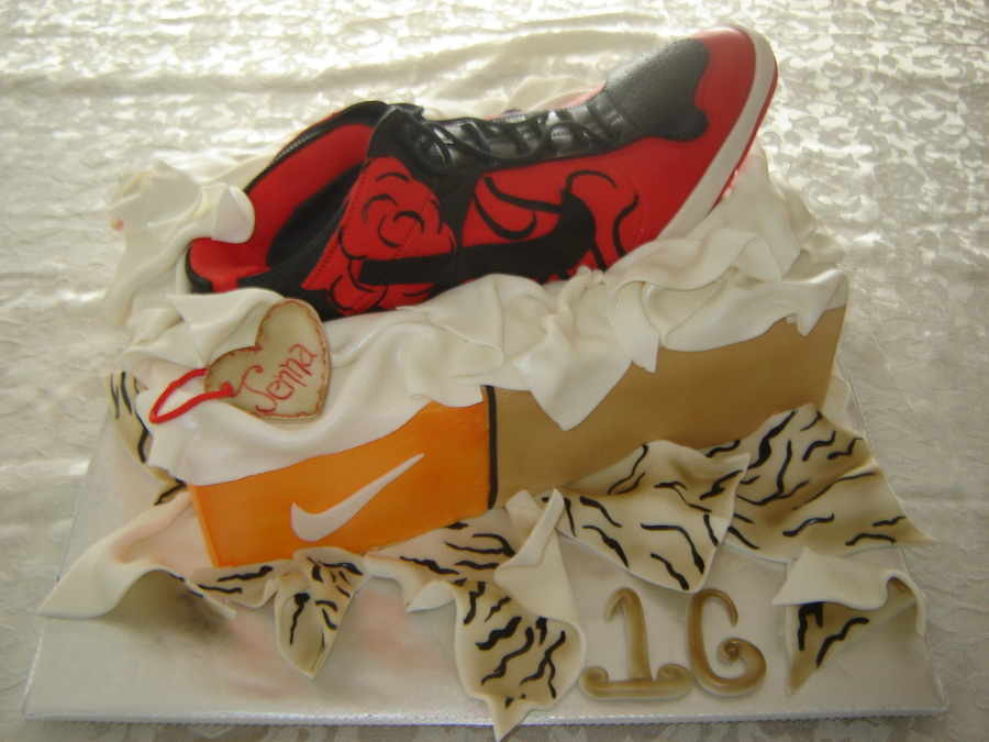 Nike High Heels on Cake Central