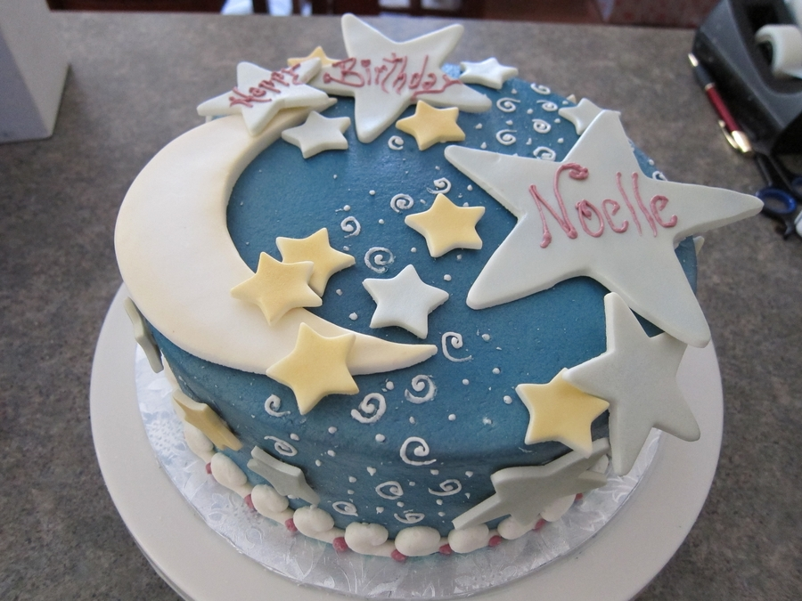 Moon And Stars on Cake Central