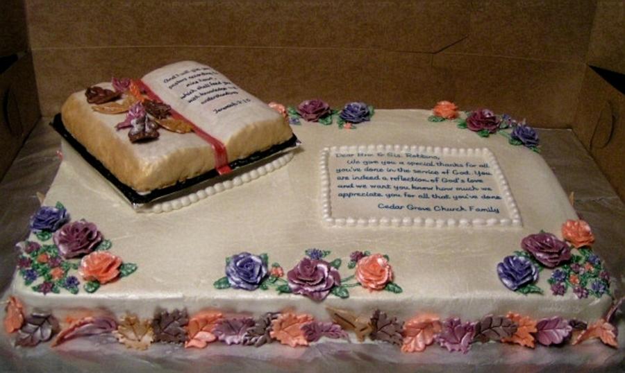 Cake Decoration Ideas For Church : Pastor Appreciation - CakeCentral.com