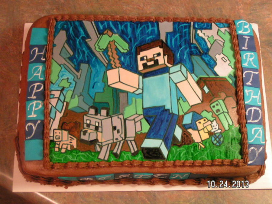 Mind Craft Games Birthday Cake Cakecentral Com