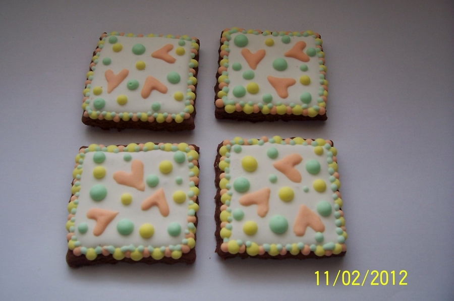 Pastel Valentine Cookies  on Cake Central