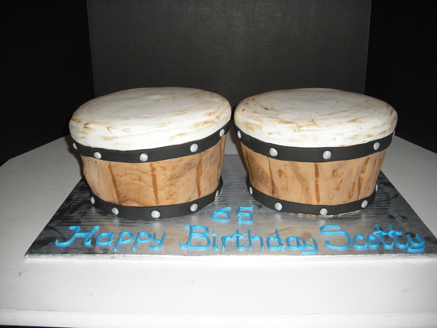 How To Make A Bongo Drum Cake