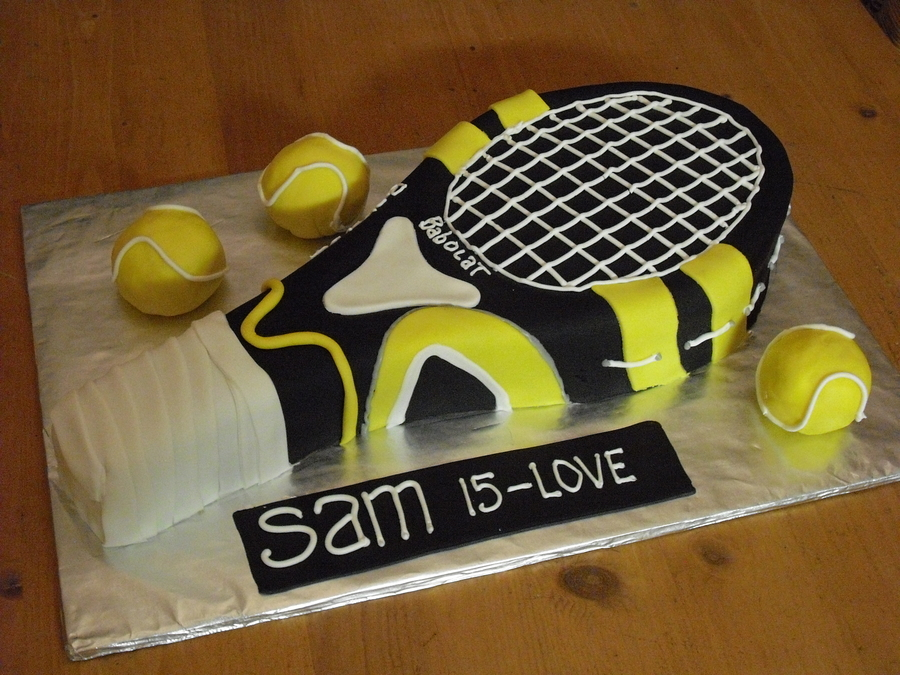 Racquet Cake 15Th Birthday  on Cake Central