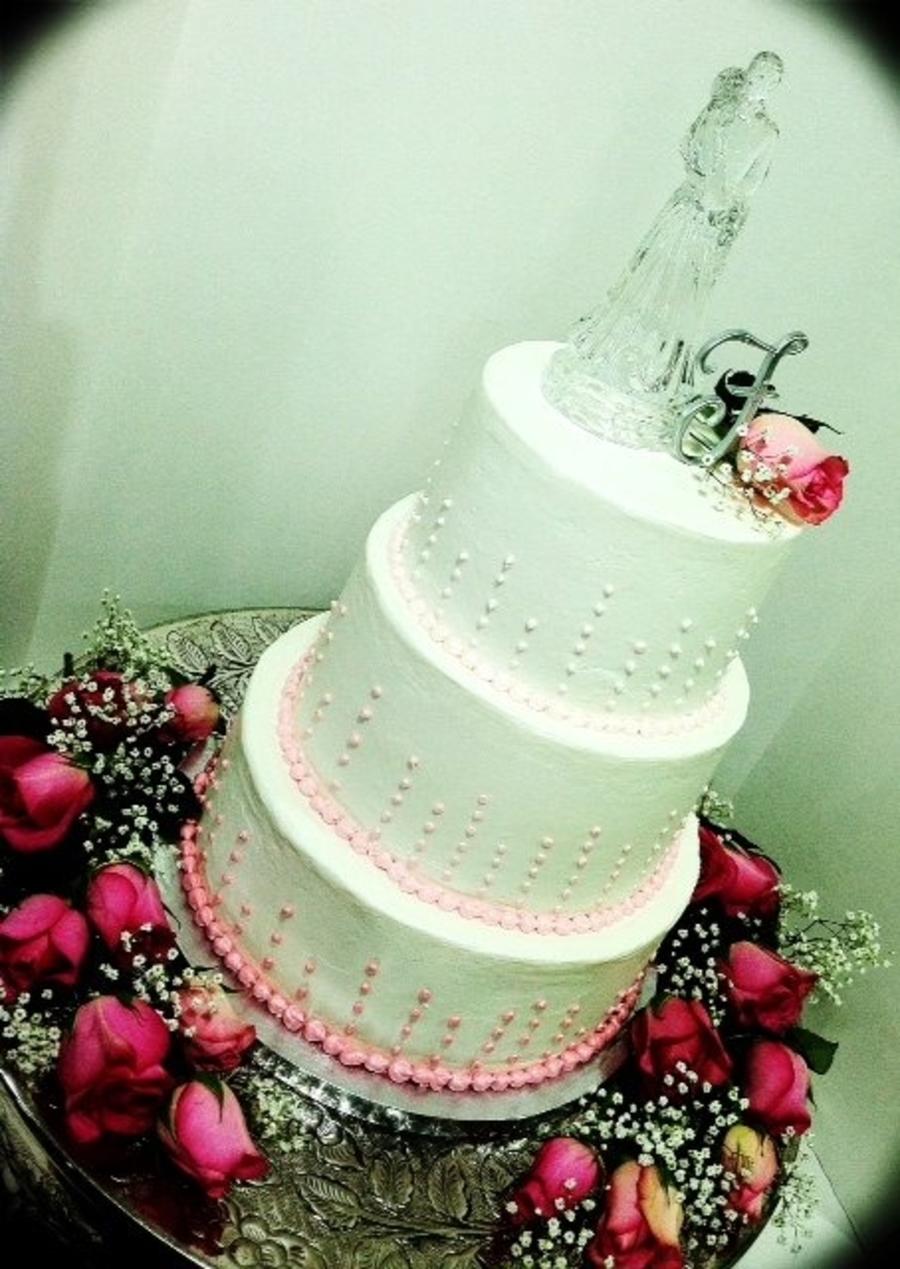 Pink Champagne Wedding Cake - CakeCentral.com