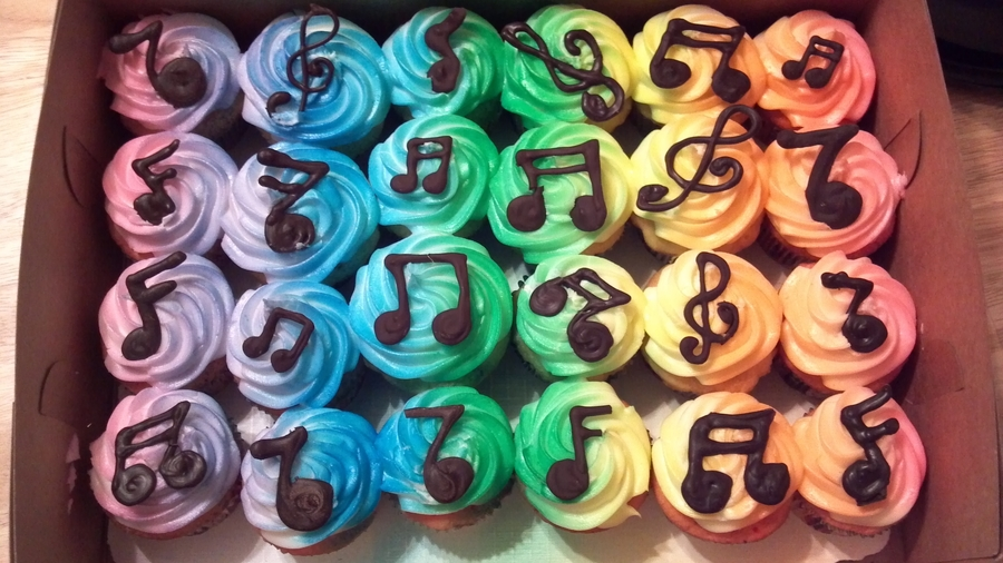 Rainbow Music Notes Cakecentral Com