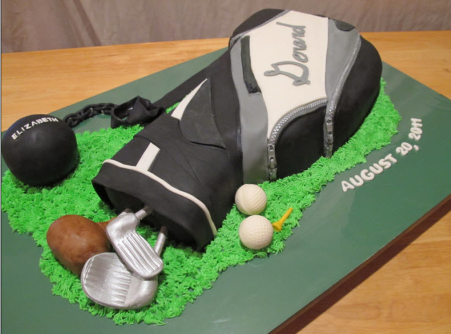 Golf Bag Groom's Cake on Cake Central